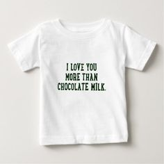 Chocolate Milk Baby T-Shirt - toddler youngster infant child kid gift idea design diy