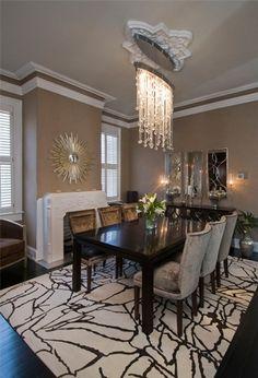 Lighting in this dining room: Cascade Luminaire | Boyd Lighting