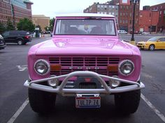 pink ford bronco