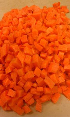 .diced carrots.               t
