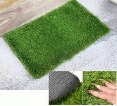 Patch Of Grass Doormat and more Great Gift Ideas at Perpetual Kid. Our super realistic Patch of Grass Mat brings the soothing power of nature right to your ... & Dollar Store DIY.Make a door mat | Fake grass Door mats and Dollar ...