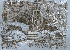 Poole, scalp en's Court, drawing, pen and ink Rob Adams, City Photo, Illustrations, Ink, Drawings, Illustration, Sketches, India Ink, Drawing