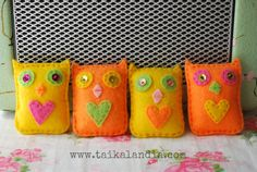 Felt Owl Brooch, Owl Brooch With Heart, Owl Jewelry, Kids Brooch, Colorful Owl Brooch, Felt Owl Pin, Handmade Felt Brooch, Kawaii Owl Brooch