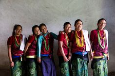 These 6 girls have been helped by iDE UK's work in Nepal.