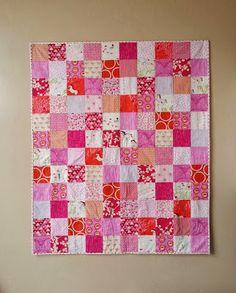 Wee Wander Pretty Pink Patchwork Quilt