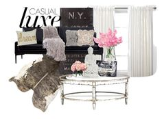 Living Room Redesign... by poshtori on Polyvore featuring interior, interiors, interior design, home, home decor, interior decorating, LSA International, philosophy and living room