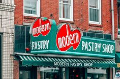 Modern Pastry is the best place to get cannolis in the North End, Boston's Little Italy neighborhood. Boston Travel, New York Travel, Manhattan Times Square, Lower Manhattan, Boston Brewery, Boston Weekend, Little Italy New York, New York Statue, Liberty New York