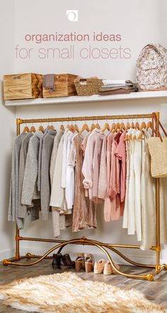 Just because your closet is small doesn't mean it can't be stylish, tidy, and organized. Use our guide on Organization Ideas for Small Closets for a collection of tips on how you can keep your closet in perfect order. Small Closet Organization, Organization Ideas, Rustic Closet, Small Room Decor, Small Rooms, Small Spaces, Best Bedding Sets, Diy Clothes Videos, Dressing