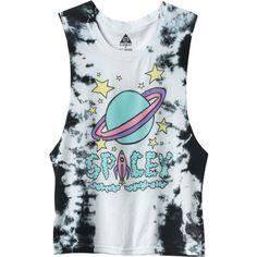 775f3840b Jac Vanek x Element Spacey Planet Rocket Black & White Tie Dye Muscle T- Shirt