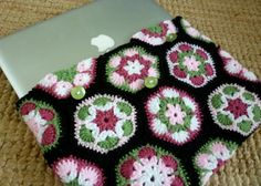 Irish crochet &: CROCHET LAPTOP SLEEVE.......ЧЕХОЛ ДЛЯ НОУТА
