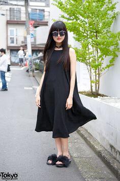 Black Dress w/ Translucent Backpack