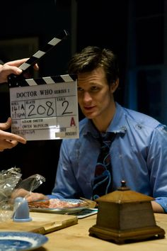The Eleventh Hour-filming the Doctor's cravings. Still can't believe he didn't like bacon!