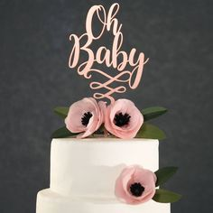 Now Lets Party handmade, laser cut, cake toppers are the perfect way to accent any party. Our elegant, unique designs allow you to customize your special day. Each topper is expertly designed, cut, and painted to offer the highest quality party accessory. Making each item to order allows us to customize our pieces to be truly special for every customer.   #babyshower #caketopper #babyshowercaketopper #rosegold #rosegoldcaketopper #rosegoldbabyshower #ohbaby