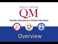 This is a narrated slide show that provides an overview of Quality Matters. The presentation introduces the viewer to the core components of QM: The Rubric S. Blended Learning, Presentation, Education, Youtube, Onderwijs, Learning, Youtubers, Youtube Movies