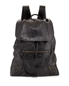 Balenciaga Classic Traveler Small Leather Backpack d25d72fb26366