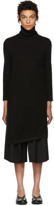 Nocturne 22 Black Long Asymmetric Turtleneck
