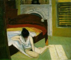 Summer Interior-- Edward #Hopper -- 1909 -- Oil on Canvas -- 24 x 29 in -- Whitney Museum of American Art  #Realism #AmericanRealism #Painting #Interior