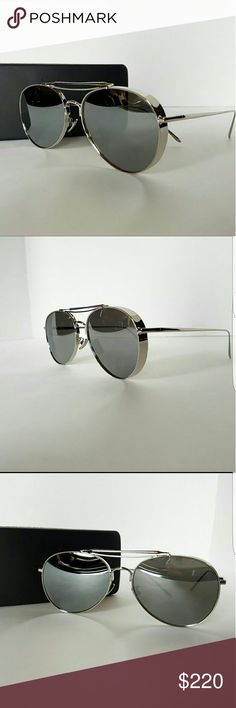 c53b3361092 Gentle Monster Big Bully Gray Silver Aviators NEW and Authentic Gentle  Monster Big Bullys Gray Silver Metal Mirrorred Aviators. Made in South Korea  Brand ...