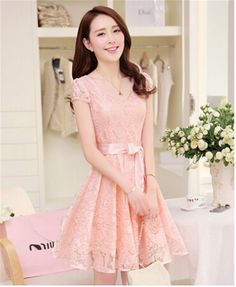 4e2fa90a26922bf US $16.8 |New summer style women dress womens cute slim lace dress Ladies  short sleeve hollow dresses S 3XL-in Dresses from Women's Clothing on ...