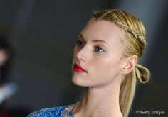 How to Make a Neat Ponytail - Braided Half-Crown Combo Hairstyle.