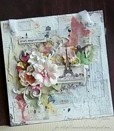 A French Inspired Wall Hanging - stunning.: I have made several of these inspirations and put them on small canvas to hang..