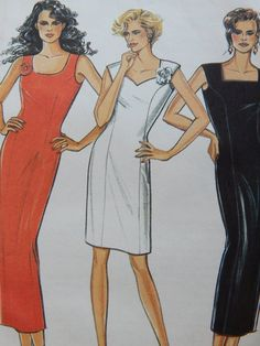 Fitted Dress Sewing Pattern/New Look 6056 Size 8-10-12-14-16-18/ A line, Slim Fit, sleeveless, princess seams,zipper back/ Uncut