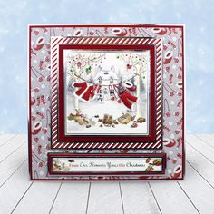 Card created using Hunkydory Crafts' Winter Wonderpants Topper Set from the A Cuddly Christmas Topper Collection Christmas Scenes, Christmas Cards To Make, Christmas Past, Xmas Cards, Christmas Crafts, Christmas Ideas, Hunkydory Crafts, Christmas Topper, Create And Craft