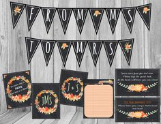 Check out this item in my Etsy shop https://www.etsy.com/listing/245984384/fall-bridal-shower-decor-pack-fall