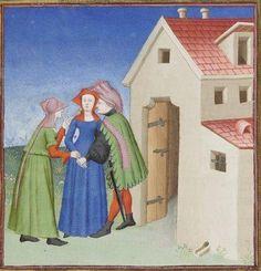 Publius Terencius Afer, Comoediae [comédies de Térence] ca. 1411;  Bibliothèque de l'Arsenal, Ms-664 réserve, 100r