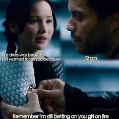 I'm so sad that Cinna died, I should be used to it by now. It's just sad, he was so sweet to Katniss. He was like a dad to her almost.
