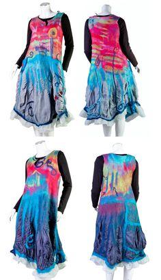 OOAK convertible wearable art nuno felt dress  M by ArianeMariane, €680.00
