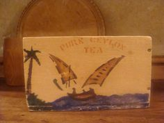 Vintage wooden tea box. £8.00, via Etsy.