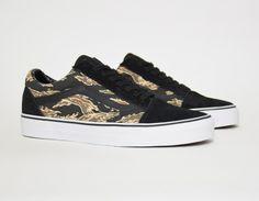 #Vans Old Skool Black Tiger Camo #sneakers