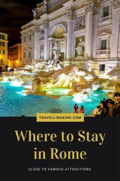 Where to Stay in Rome – Close to Famous Attractions. Rome is a beautiful city to visit and very high up on my recommended lists of where to visit! However like most cities, it's difficult to work out where to stay, we've done our best to provide a list of #ItalyPlanning