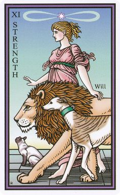 Strength, from Tarot of the Sevenfold Mystery Creator: Robert M. Place -   I shall have this deck!