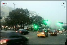 Bs.As - Av. 9 de julio / día nublado / onda verde - Luces colores