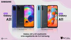 Galaxy A31 y A11 cautivará a los seguidores de CLX Samsung #NasarDagga #CLX #Samsung #Venezuela #Tecnologia Samsung, Smartphone, Followers, Venezuela, Tecnologia