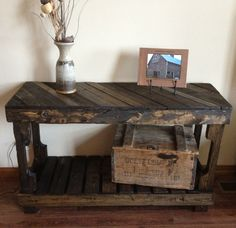 Pallet sofa/entry Table by The Rustic Recyclery $145