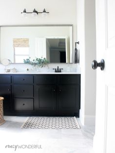 I was on Pinterest yesterday and kept seeing all of these amazing bathrooms. They are breathtaking. And, I'm sure they all had a breathtak...