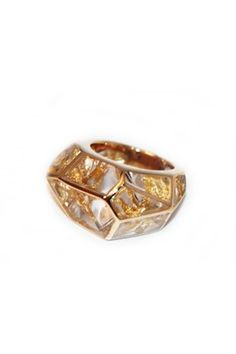 Louvre Gold Leaf ring