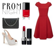 """red PROM night!"" by unicorngirl05 ❤ liked on Polyvore featuring Phase Eight, Lauren Lorraine, Chanel and Christian Dior"