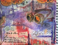 "Inspirational art journaling. ""How do others see me? Distorted perception. Art by Artsy Soul."
