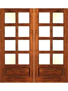 Only Available Prehung Slab Chamfer Sticking Insulated Low E Dual Double  Glazed Tropical Hardwood Wood Lite 8 Lite 1 Panel French Double Door Kiln  Dried ...