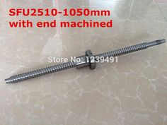 47.50$  Watch here - http://alicdv.shopchina.info/go.php?t=32760052097 - 1pc SFU2510- 1050mm  ball screw with nut according to  BK20/BF20 end machined CNC parts  #magazine