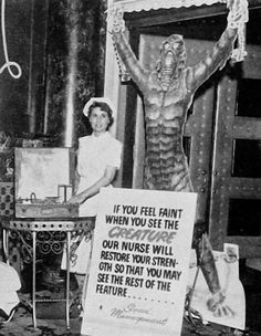 "Revenge of the Creature (1955) pre-theatre presentation.  When going to a movie was an ""event""."