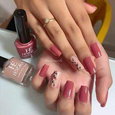 86 marvelous nail art designs 2019 page 00042 Rose Gold Nails, Pink Nails, Hair And Nails, My Nails, Nailart, Fall Nail Art Designs, Cute Acrylic Nails, Stylish Nails, Perfect Nails