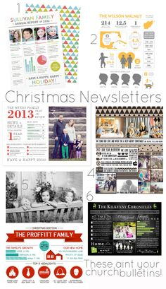 christmas newsletters - Don't send boring cards this year. Send a fun newsletter to share your year!