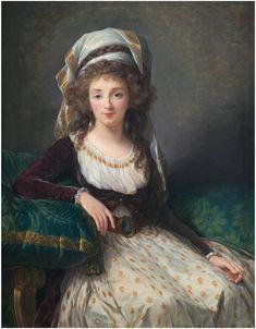 """Élisabeth VIGÉE-LEBRUN (1755, Paris - 1842, Paris)  Marquise de Fresnes d'Aguesseau - 1789  oil on panel, 42-1/8"""" x 32-3/4""""  Kress Collection, National Gallery of Art, Washington, D.C."""