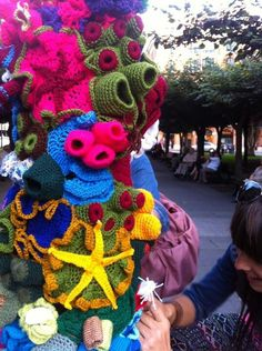 Urban knitting Avilés en Gijón