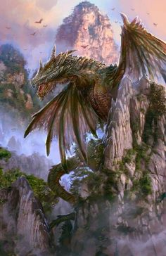 Dragon by PabloFernandezArtwrk Myriad of Dragons mountains jungle monster beast creature animal Create your own roleplaying game material w RPG Bard Writing inspiration. Dragon Medieval, Beast Creature, Cool Dragons, Dragon Artwork, Dragon Pictures, Dragon Pics, Green Dragon, Mythological Creatures, Fantasy Landscape